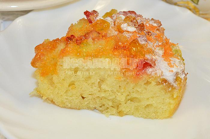 рецепт бисквитного пирога с мармеладом
