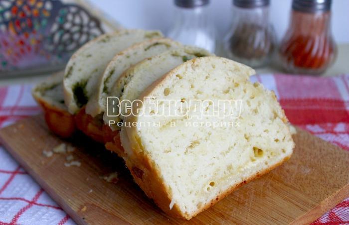 кусочки хлеба с укропом