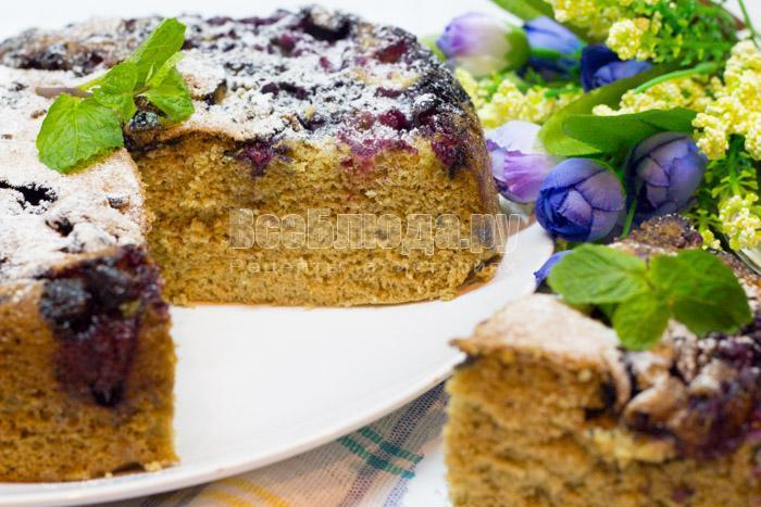 рецепт черничного пирога с фото