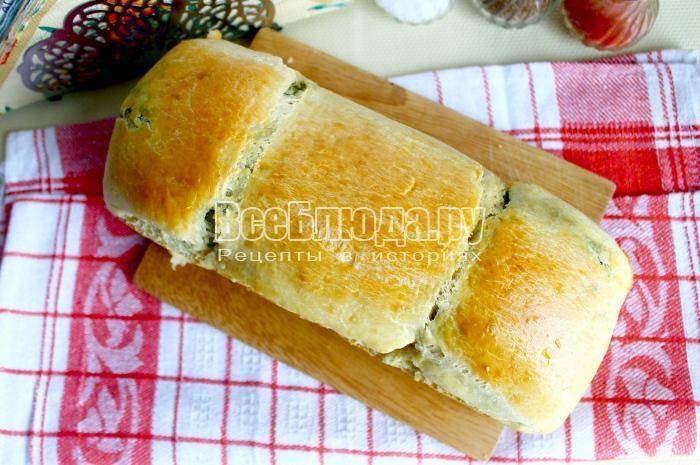 готовый укропный хлеб