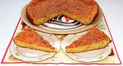 Сырно-творожный несладкий пирог