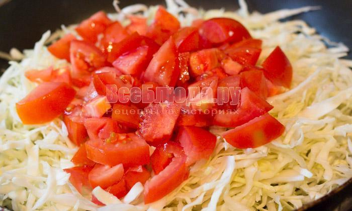 капуста и помидоры