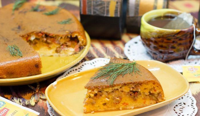 рецепт пирога с капустой в мультиварке