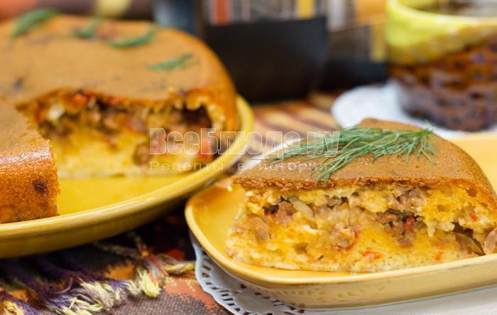 вкусный пирог с капустой, рецепт с фото