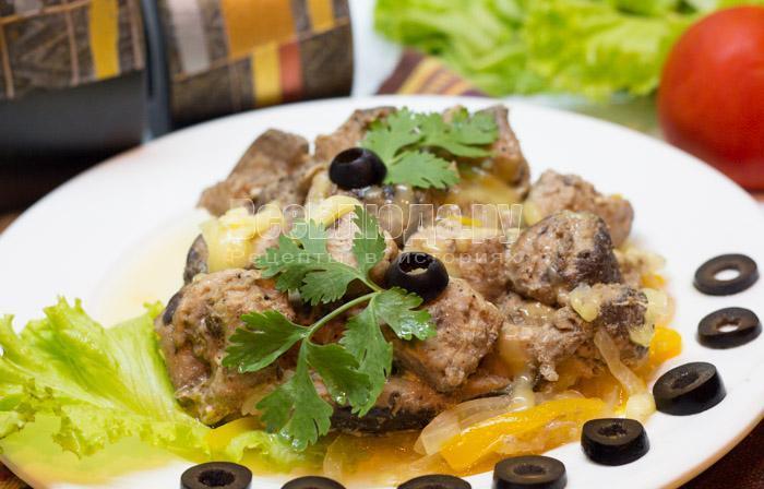 рецепт тунца в духовке с овощами