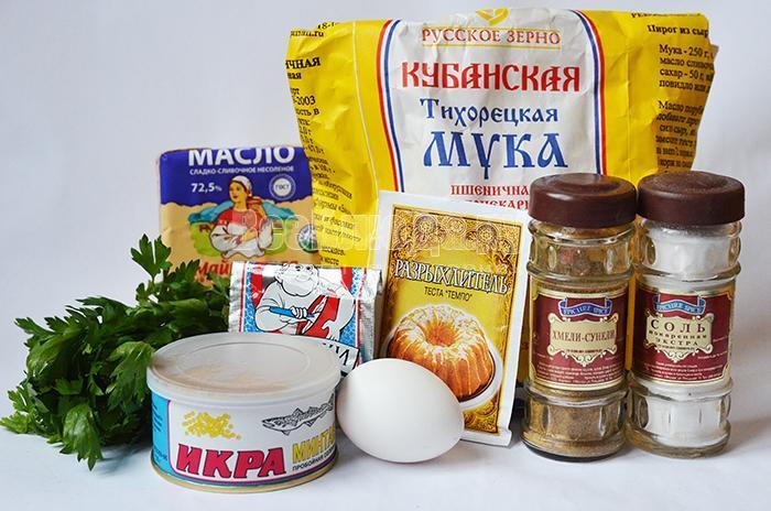 необходимые ингредиенты для минтаевой закуски: