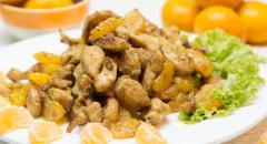 Куриное филе с мандаринами