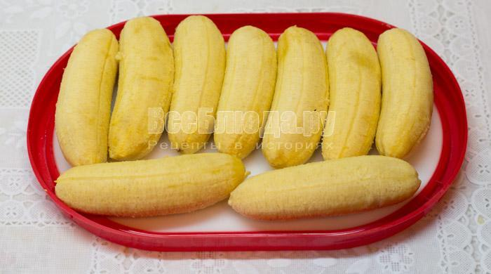 почистить бананы
