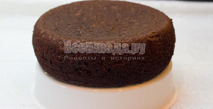 готовый шоколадный бисквит на кипятке из мультиварки