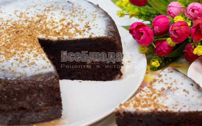 бисквит на кипятке шоколадный в мультиварке