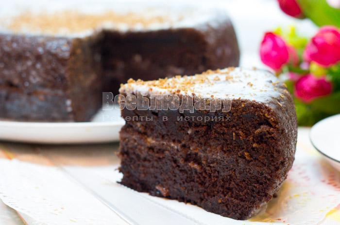 как сделать вкусный шоколадный торт на кипятке в мультиварке