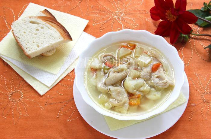 суп с куриными шкурками, рецепт с фото