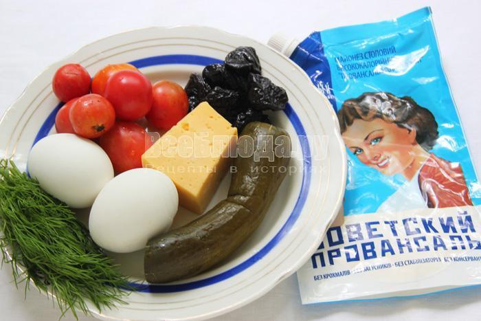 продукты для салата без мяса