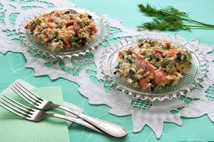 вкусный салат без мяса