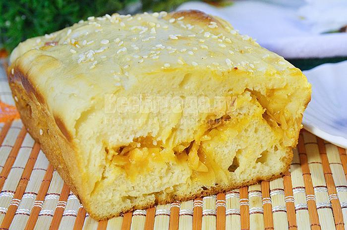 Капустный пирог на дрожжевом тесте рецепт с 153