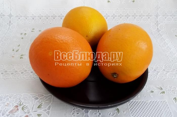 помыть апельсины щеткой