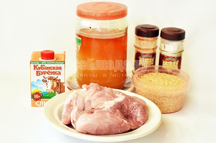необходимые ингредиенты для мяса в медовом маринаде: