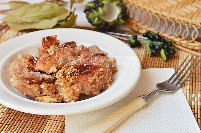 рецепт мяса в медовом маринаде и сливках