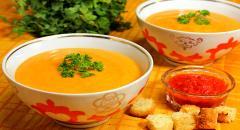 Тыквенный суп-пюре с имбирем и чили