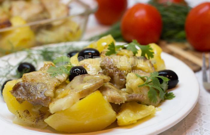 рецепт картошки со свиной грудинкой в духовке
