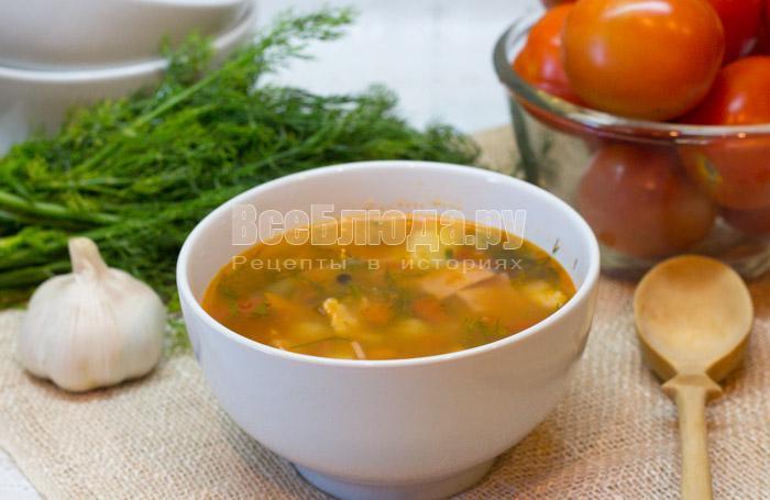 как приготовить томатный суп харчо