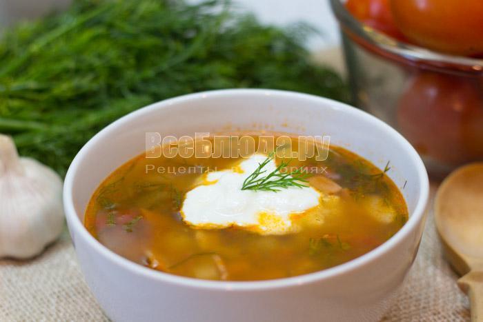 рецепт томатного супа Харчо с помидорами