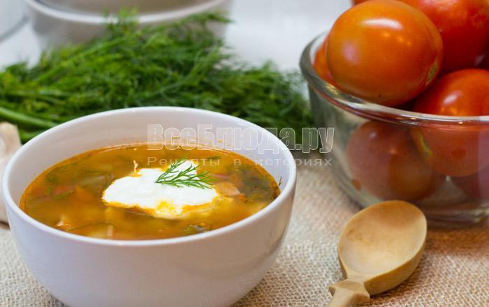 как приготовить суп харчо с томатами