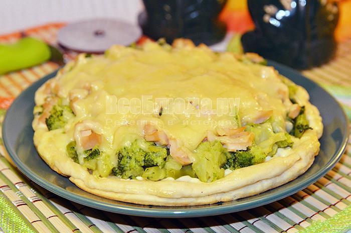 как приготовить вкусную пиццу с кальмарами и брокколи, рецепт с фото