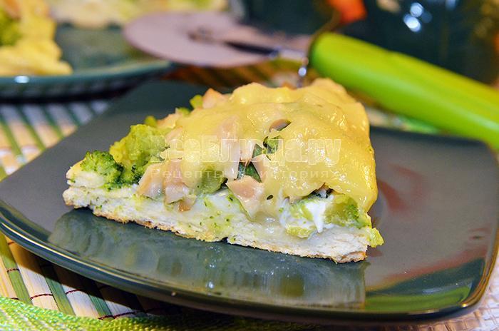 пицца с кальмарами и брокколи, рецепт с фото