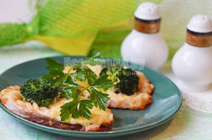 запеченная форель с брокколи