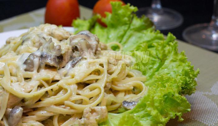 как приготовить спагетти в сливочном соусе