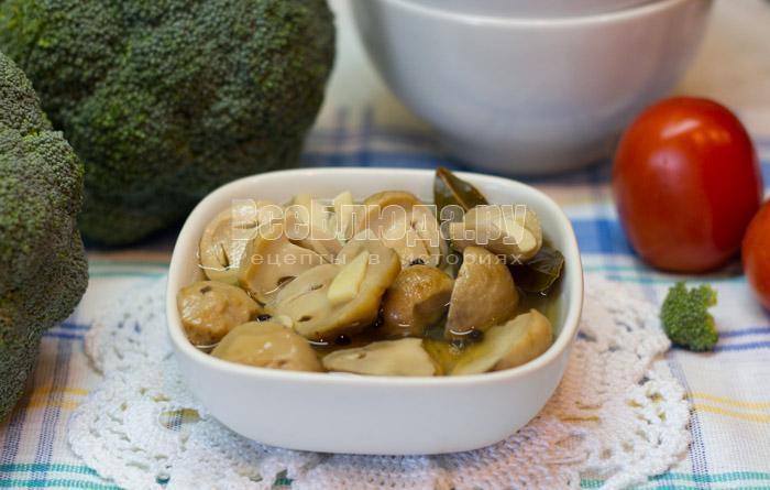 рецепт маринованных грибов с фото