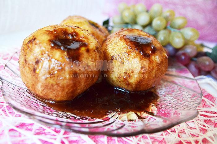 рецепт карамелизованных яблок