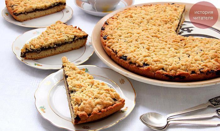 Тертый пирог с шоколадом
