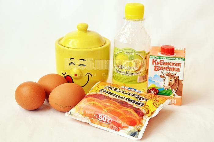 необходимые ингредиенты для лимонного суфле: