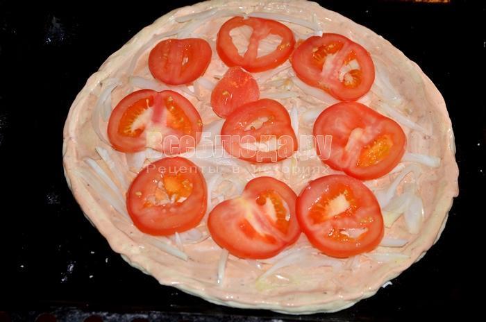 разложите помидорки