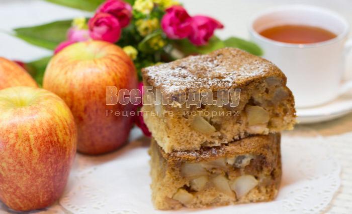 рецепт яблок в тесте