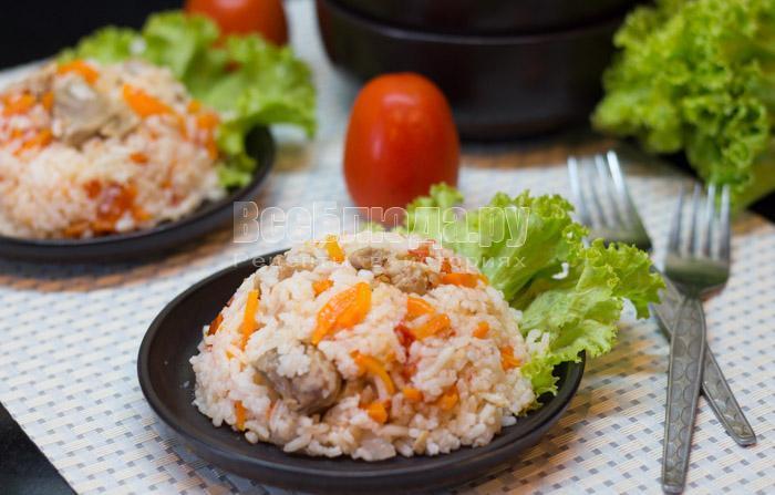 рецепт риса со свининой в мультиварке