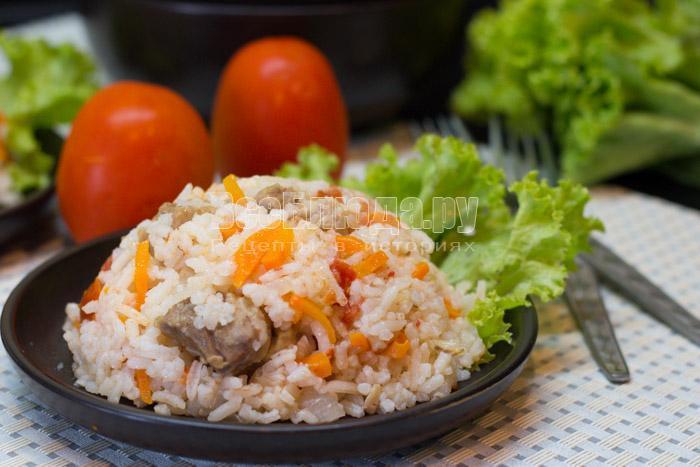 рецепт риса с овощами и мясом в мультиварке