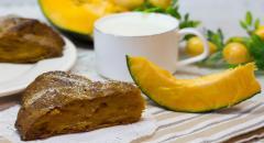 Тыквенный пирог (много тыквы, мало муки)