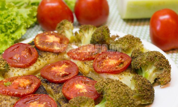 рецепт пангасиуса с кабачками и помидорами