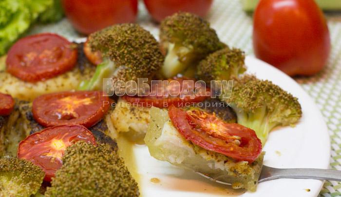 как вкусно приготовить пангасиуса с кабачками и брокколи