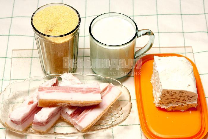 ингредиенты для приготовления мамалыги