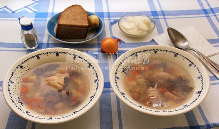 рецепт супа с гречкой и грибами