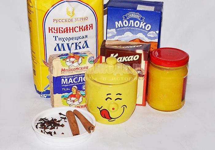 необходимые ингредиенты для печенья елочки: