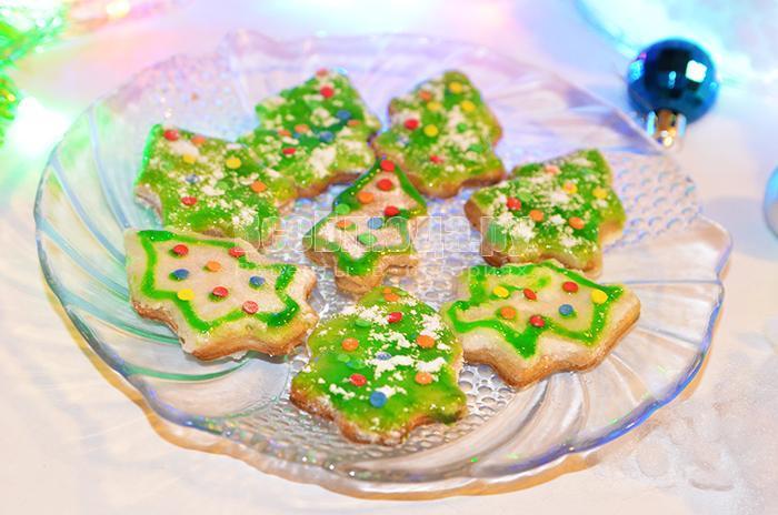 как приготовить печенье елочки на новый год
