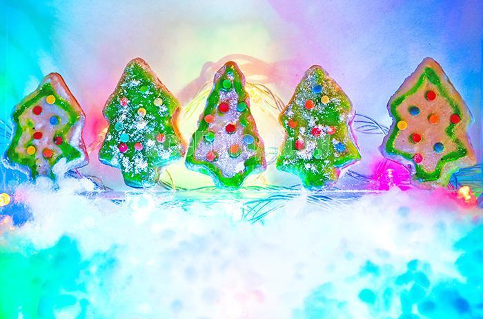 Печенье Елочки, пряники новогодние