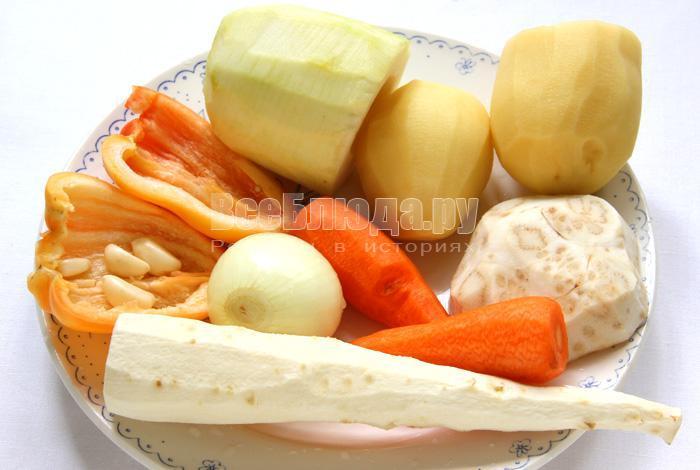 чищу овоши