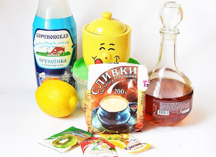 необходимые ингредиенты для молочной мастики для цветов и тортов: