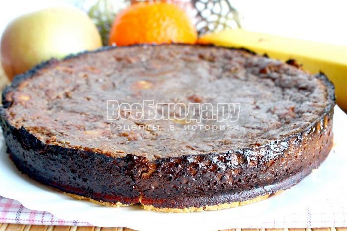 Шоколадный тарт - несладкий рецепт